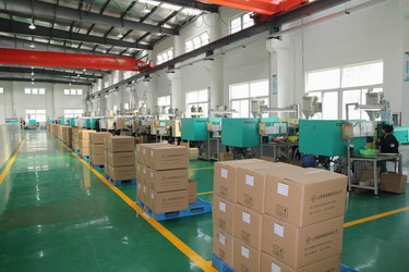 the workshop of china plastic product factory