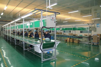 Assembly workshop of china plastic company
