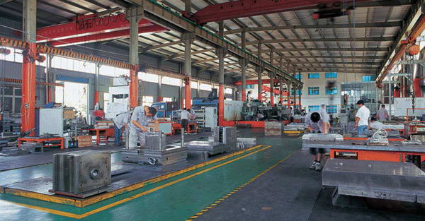 workshop of mold making factory
